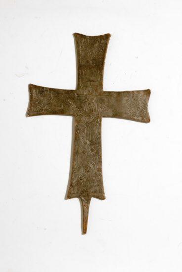 Σταυρός λιτανείας με εγχάρακτη παράσταση Αποκαλυπτικού Χριστού