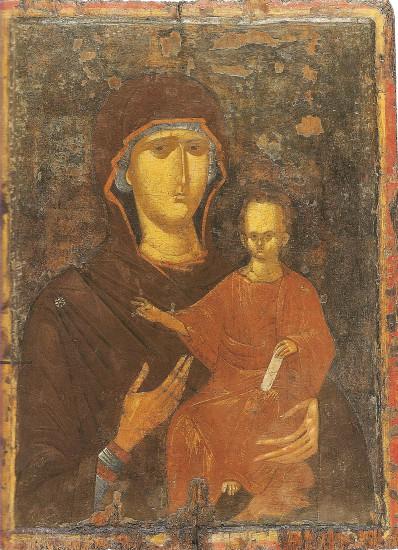 Αμφιρόσωπη εικόνα με την Παναγία Οδηγήτρια