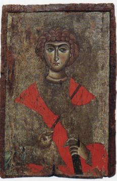 Αμφιπρόσωπη εικόνα με τον άγιο Γεώργιο